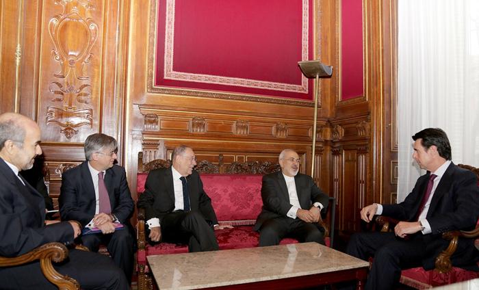 (تصاویر) دیدار ظریف و سولانا در اسپانیا