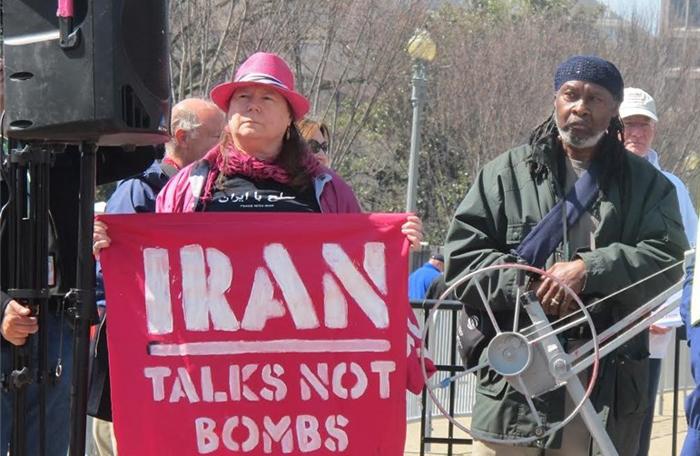 (تصاویر) تجمع حامیان ایران مقابل کاخسفید