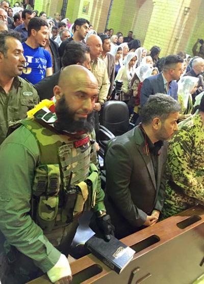 (تصاویر) ابوعزرائیل در کلیسای بغداد