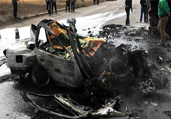 (تصاویر 16+) حادثه دلخراش در جاده سلماس