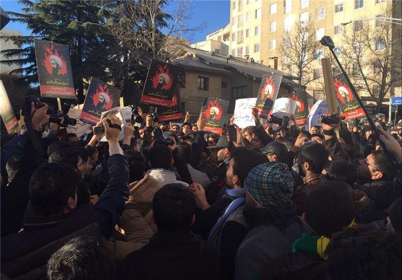 برگزاری تجمع غیرقانونی مقابل سفارت عربستان