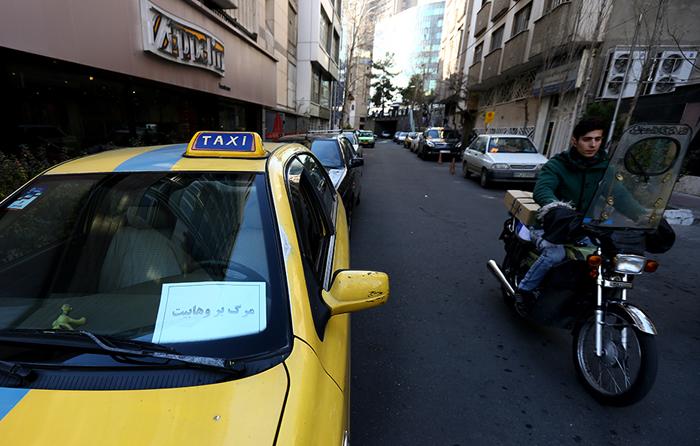 (تصاویر) کمپین رانندگان تاکسی علیه آلسعود