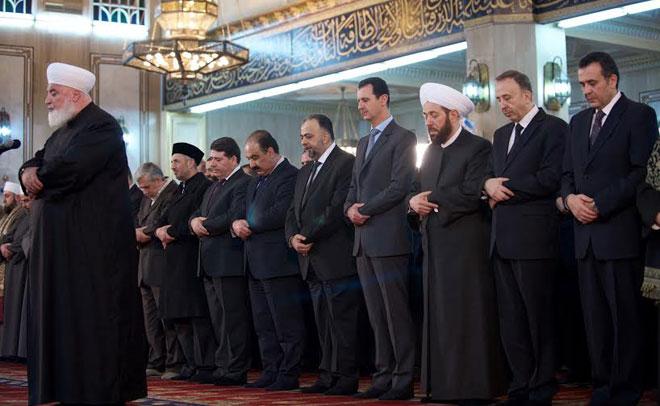 (تصاویر) بشار اسد در مراسم میلاد پیامبر(ص)