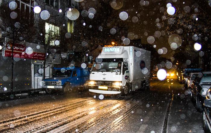 (تصاویر) بارش برف و تگرگ در تهران