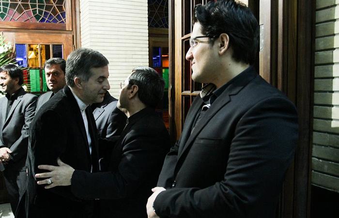 (تصاویر) از مشایی تا ظریف در ختم پدر قشقاوی
