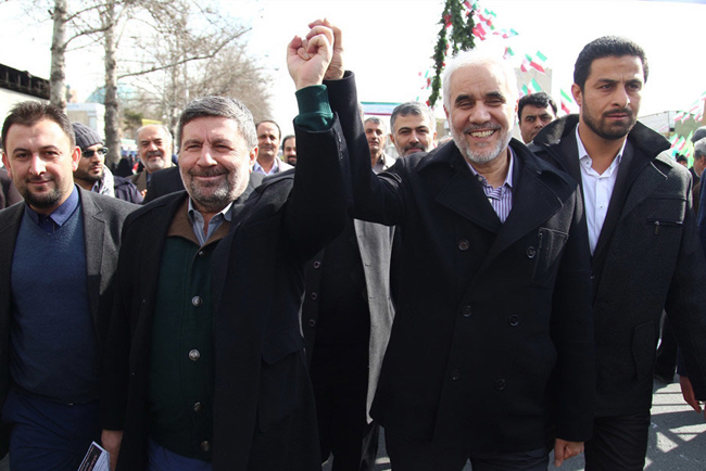 (تصاویر) مسئولان نظام در راهپیمایی 22 بهمن