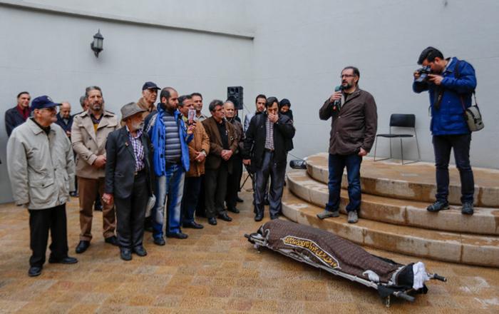 (تصاویر) مراسم تشییع فریبرز صالح