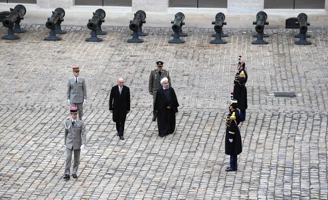 (تصاویر) استقبال فابیوس از روحانی در موزه جنگ