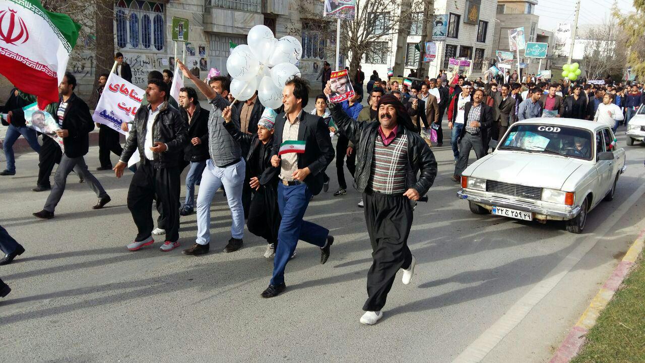 (تصاویر) شور انتخاباتی در اسلام آباد غرب
