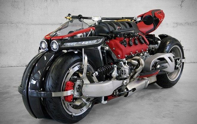 (تصاویر) موتورسیکلتی با قلب تپینده مازراتی!