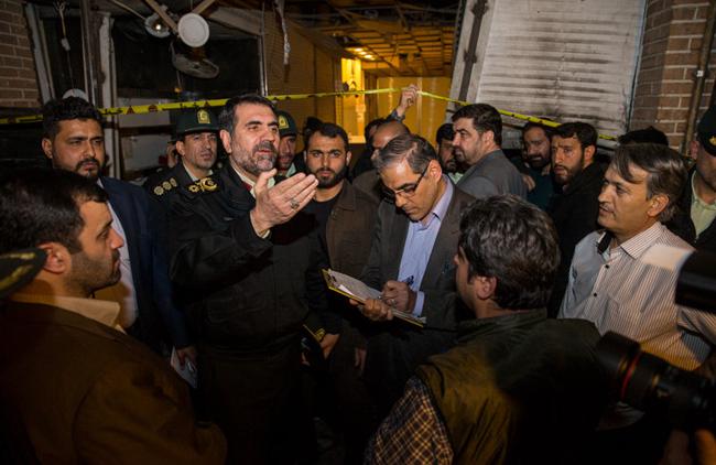 (تصاویر) انفجار در بازار تهران