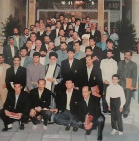 (تصویر) عابدزاده و تیمملی 1998 کنار رهبر انقلاب