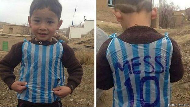 مسی قولش به کودک افغان را عملی کرد