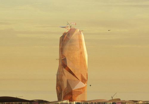 (تصاویر) شهر عمودی در قلب صحرای آفریقا