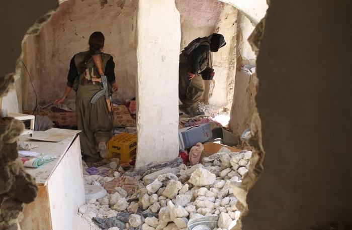 (تصاویر) زنان چریک در سنجار
