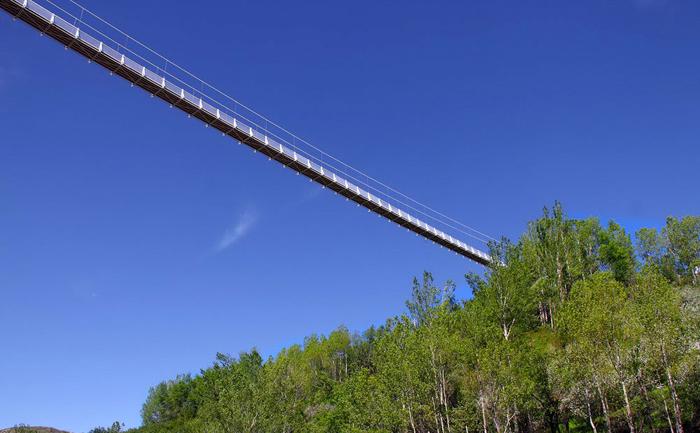 (تصاویر) مرتفعترین پل معلق خاورمیانه در اردبیل