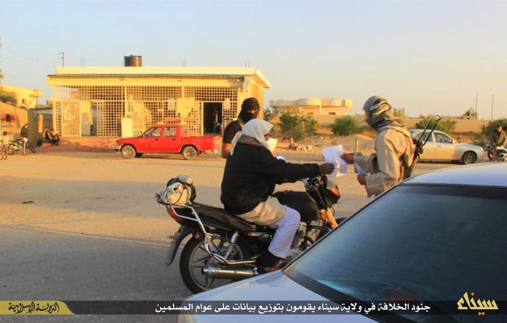 (تصاویر) تبلیغات داعش در صحرای سینا