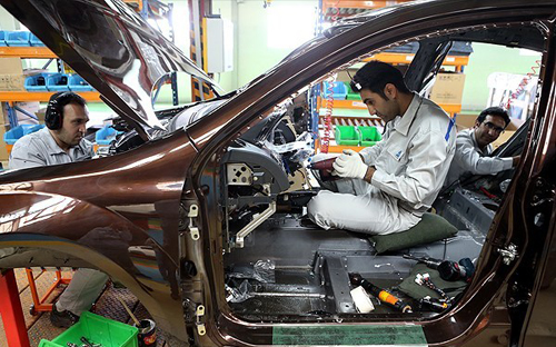 (تصاویر) آغاز خط مونتاژ خودروهای چینی در ایران