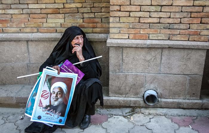 (تصاویر) استقبال از روحانی در تبریز
