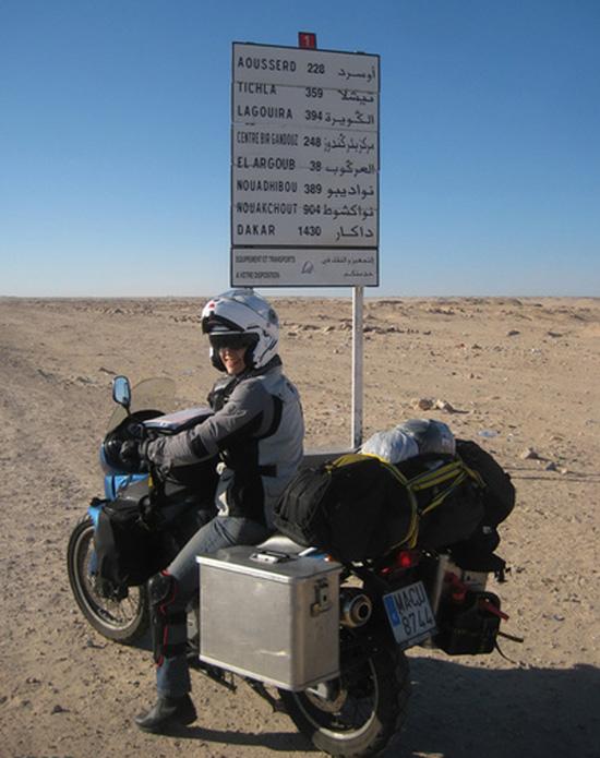 ماجراجویی بانوی ایرانی موتورسوار+(تصاویر)