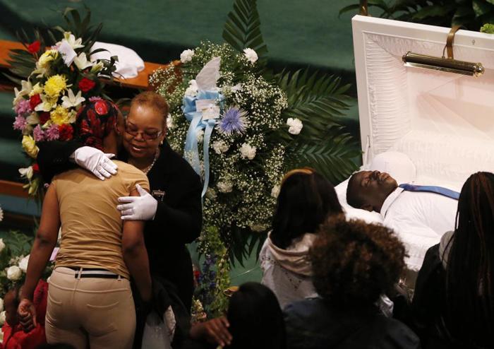 (تصاویر) خاکسپاری سیاهپوست امریکایی