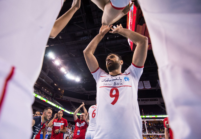 (تصاویر) دیدار والیبال ایران و امریکا
