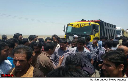 مرگ نماینده کارگران در تجمع اعتراضی در زرند
