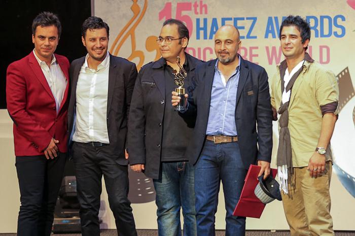 عکس بازیگران در پانزدهمین جشن حافظ