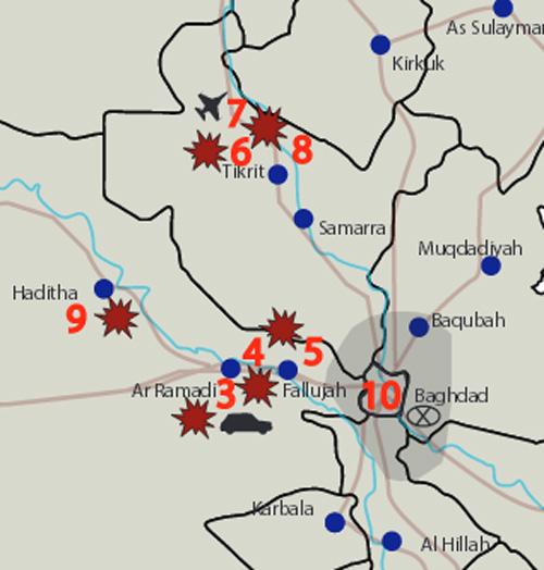 روایت نقشه ها از جنگ با داعش در عراق