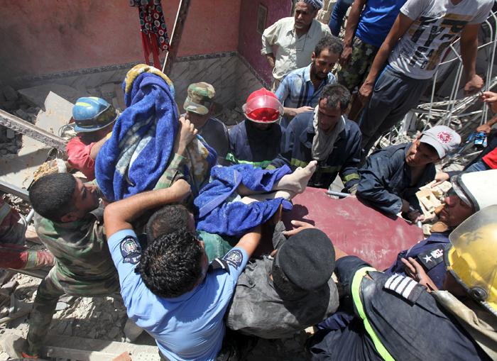 (تصاویر) بمباران اشتباهی بغداد