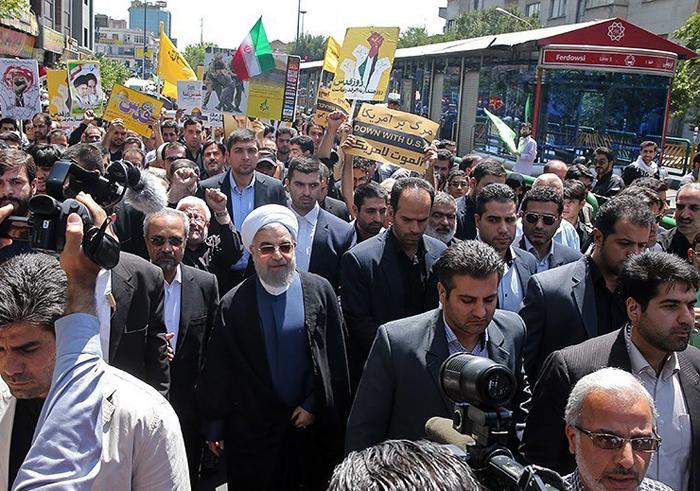 (تصاویر) حضور مقامات در راهپیمایی روز قدس