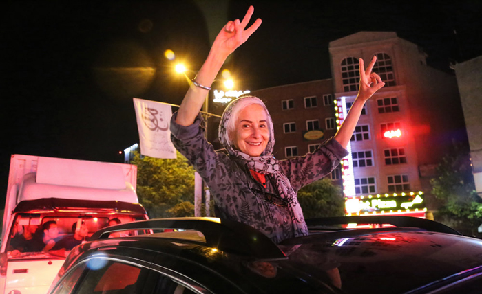(تصاویر) جشن هستهای در تهران(2)