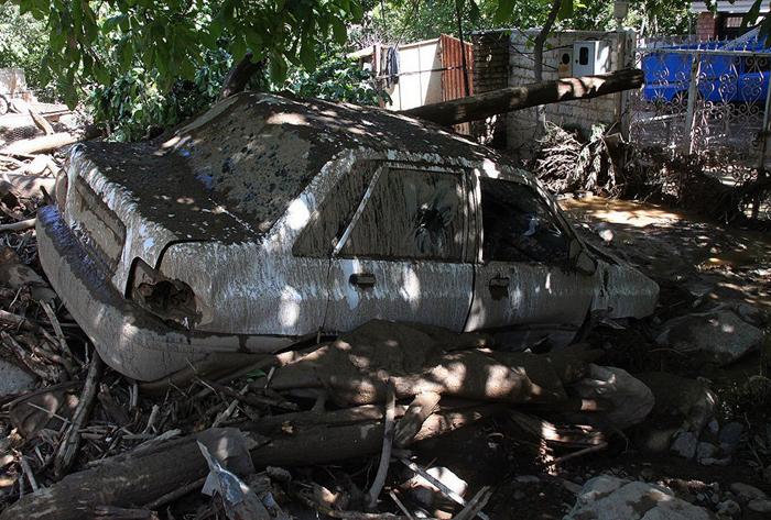 (تصاویر) خسارات سیل در چالوس
