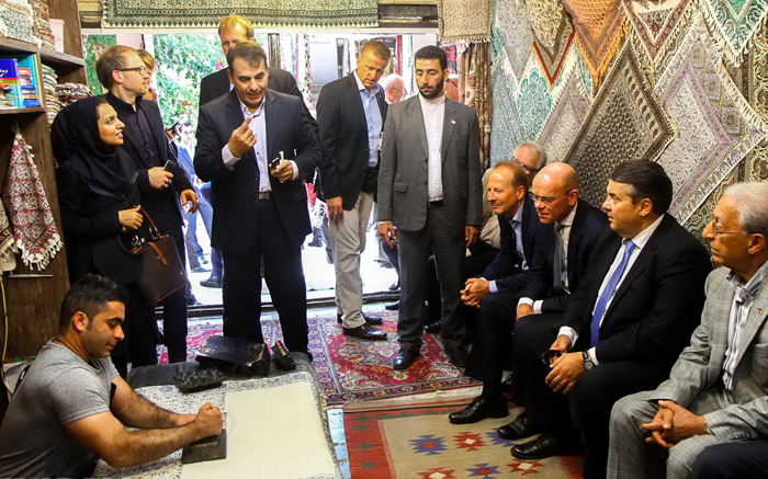 (تصاویر) معاون مرکل در اصفهان