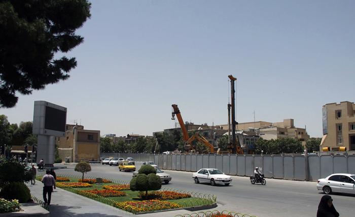 (تصاویر) پایههای کاخ کشفشده در اصفهان
