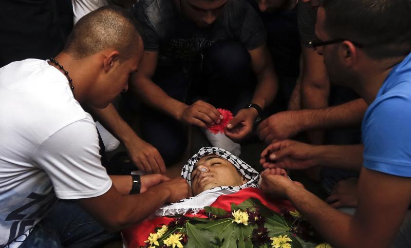 (تصاویر) شهادت جوان فلسطینی در تظاهرات