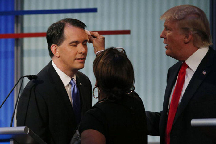 (تصاویر) اولین مناظره انتخاباتی امریکا