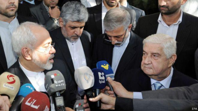 ظریف با اسد دیدار کرد