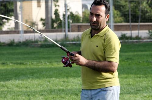 (تصاویر) مسابقه ماهیگیرها در شهرکرد