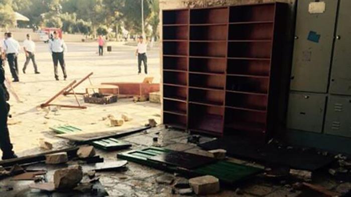 (تصاویر) ورود پلیس اسرائیل به مسجدالاقصی