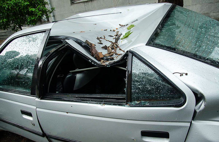 (تصاویر) خسارات توفان در ساری