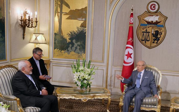 (تصاویر) دیدار ظریف با بوتفلیقه و السبسی