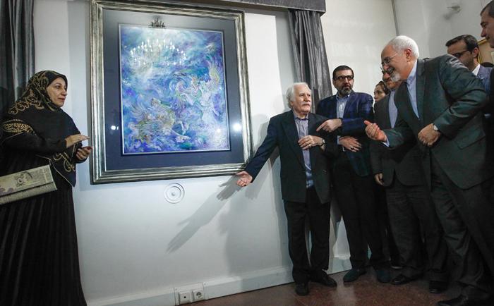 همسر جواد ظریف نقاشی فرشچیان خانواده جواد ظریف بیوگرافی مریم ایمانیه استاد محمود فرشچیان