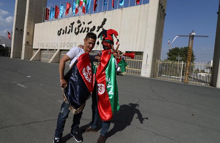 فوتبال افغانستان زن افغانی دختر افغانی تماشاگران افغانستان