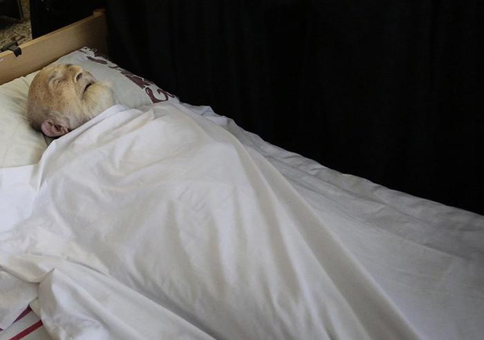 (تصاویر) پیکر آیتالله خزعلی پس از درگذشت