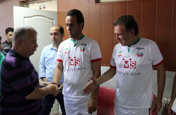 (تصاویر) پروین و عابدزاده در تمرین ستارگان