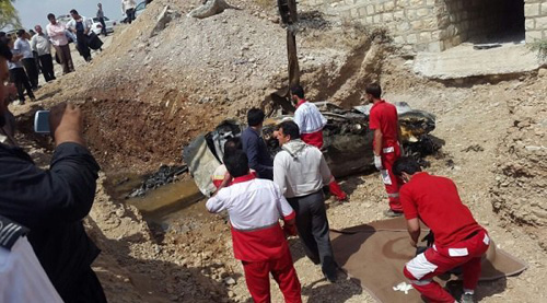 (تصاویر) 4 پرسنل بانک در آتش سمند سوختند