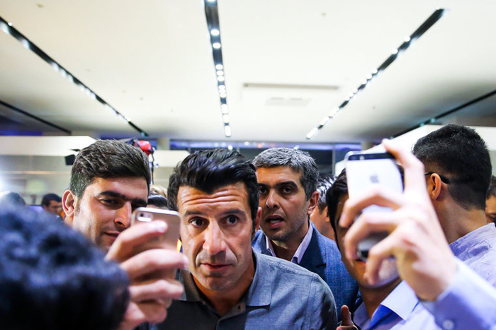 (تصاویر) ورود فیگو و کاناوارو به تهران
