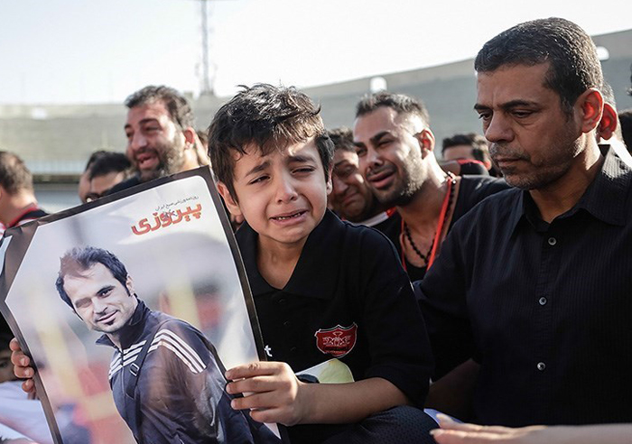 (تصاویر) مراسم وداع با هادی نوروزی در آزادی