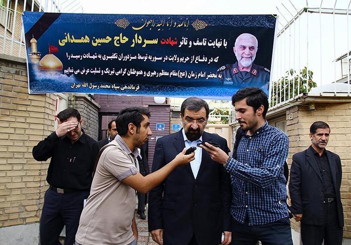 (تصاویر) گریه رضایی در سوگ سردار همدانی